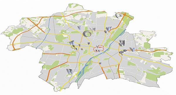 Hochhäuser in München (und mehr landmarks)