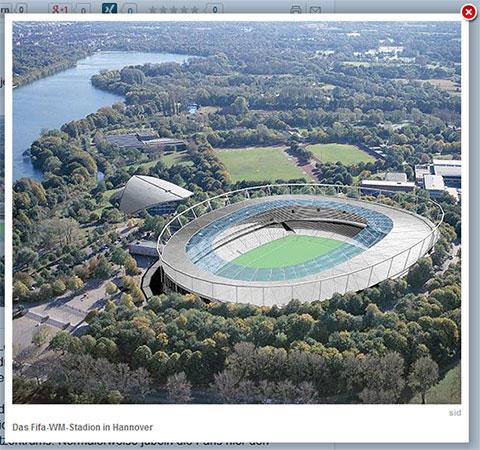 Das Stadion in Hannover - demnächst ...