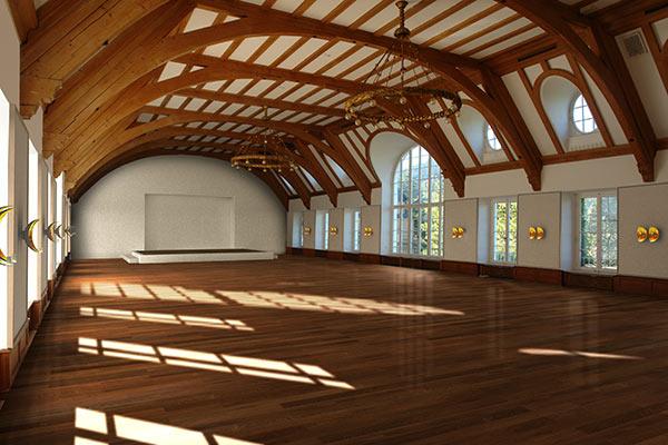 Ein (wiederherzustellender) Konzertsaal im Schloss