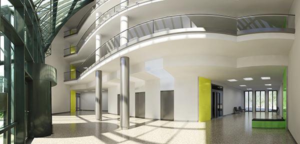 Überlagerung von Bestand und Eingriff für das refurbishment im Officemarkt