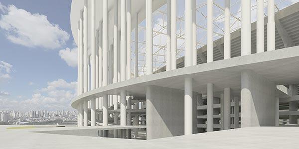 Stadion in Brasilia (Ausschnitt Aussen)