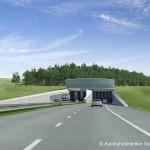 Ein Tunnel - 3D-Visualisierung