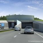 Ein Tunnel- 3D-Visualisierung