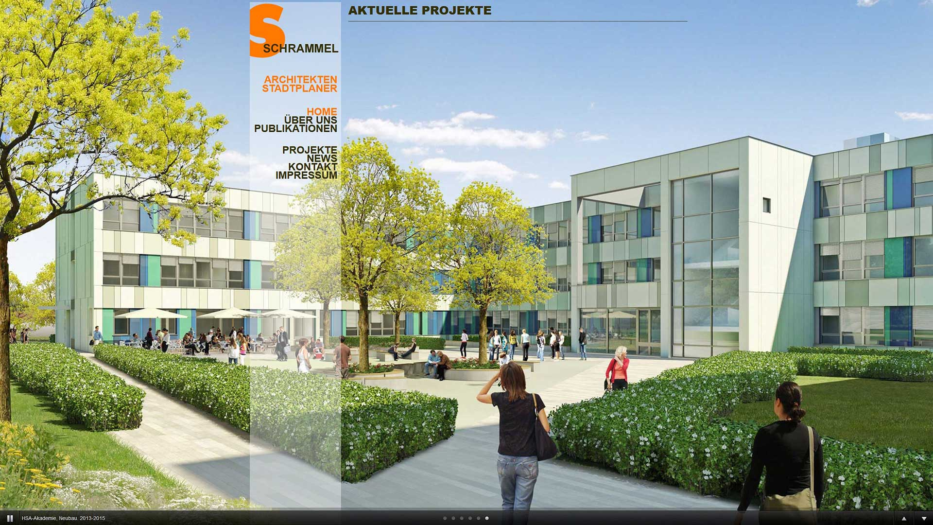 3D-Visualisierung der Schule HSA