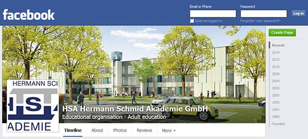 HSA mit facebook-Aufmacher