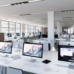 3D-Visualisierung im Großraumbüro